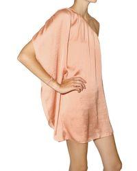 American Retro Pink Tori One Shoulder Dress