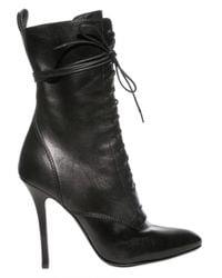 Balmain | Black Pointed Toe Boots | Lyst
