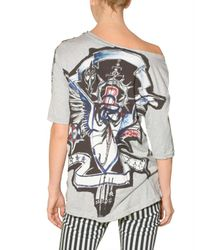 Balmain - Multicolor Printed Logo Patch Jersey T-shirt - Lyst