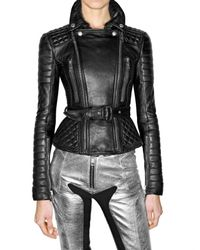 Burberry Prorsum | Black Quilted and Fitted Leather Jacket | Lyst