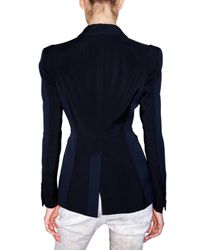 Burberry Prorsum - Blue Micro Structure Viscose Panel Jacket - Lyst
