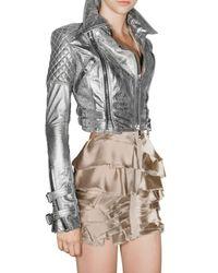 Burberry Prorsum - Metallic Quilted Leather Biker Jacket - Lyst