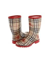 Burberry | Red Mid-calf Rain Boots | Lyst