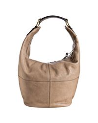 Céline | Brown Taupe Pebbled Leather Bucket Hobo Bag | Lyst