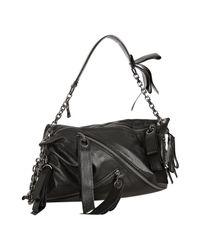 Christian Louboutin | Black Nappa Trophe Zip Shoulder Bag | Lyst