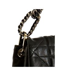 Dior - Black Cannage Quilted Lambskin Flap Small Shoulder Bag - Lyst