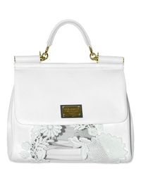Dolce & Gabbana | White Macrame Buffalo Top Handle | Lyst