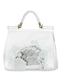 Dolce & Gabbana - White Macrame Buffalo Top Handle - Lyst