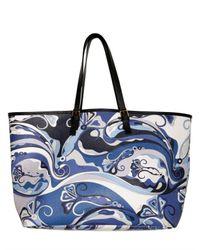Emilio Pucci | Blue Printed Pvc Shopper Tote | Lyst