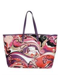 Emilio Pucci | Multicolor Printed Pvc Shopper Tote | Lyst