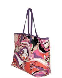 Emilio Pucci - Multicolor Printed Pvc Shopper Tote - Lyst
