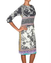 Etro | Multicolor Printed Jersey Dress | Lyst