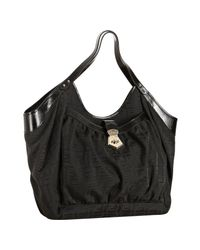 Fendi | Black Zucca Canvas Chef Shoulder Bag | Lyst