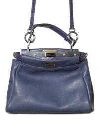 Fendi | Blue Peek A Boo Mini Top Handle | Lyst