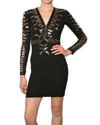 Givenchy | Black Sleeveless Embellished Cage Sheath Dress | Lyst