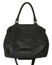 Givenchy | Black Leopard Pandora Medium Shoulder Bag | Lyst