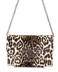 Givenchy | Brown Pony Leopard Printed Shoulder Bag | Lyst