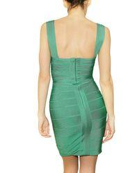 Hervé Léger Green Spandex Dress