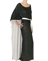 Issa | Black Reversible Crepe Jersey Kaftan Dress | Lyst