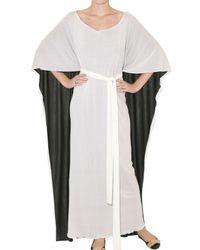 Issa - Black Reversible Crepe Jersey Kaftan Dress - Lyst