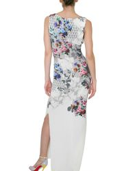 Jonathan Saunders - Multicolor Celyn Floral-print Stretch-silk Gown - Lyst