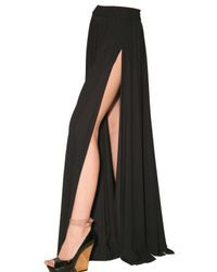 Lanvin | Black Long Lycra Skirt | Lyst