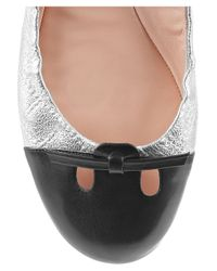 Marc Jacobs Black Quilted Patent-leather Ballerina Flats