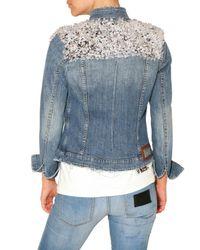 Philipp Plein | Blue Crystal Shoulder Denim Jacket | Lyst
