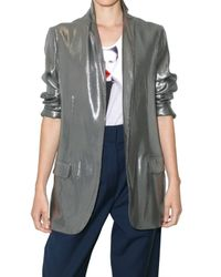 Richard Nicoll | Metallic Unstructured Lamè Jacket | Lyst