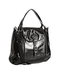 Tod's | Black Coated Canvas G-bag Flap Tote | Lyst