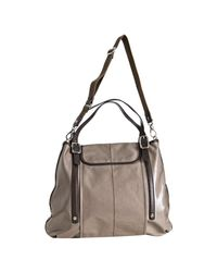 Tod's - Brown Taupe Coated Canvas G-bag Script Patta Flap Tote - Lyst