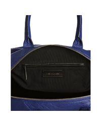 Saint Laurent | Blue Lambskin Leather Sac 57 Satchel | Lyst