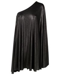 Halston | Metallic Draped One Shoulder Dress | Lyst