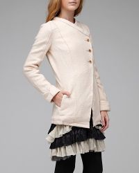 Free People | Natural Knit Wool Jacket | Lyst