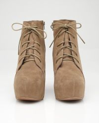 Jeffrey Campbell - Natural Two Timer Lace-u Wedge - Lyst
