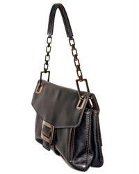 Roger Vivier | Black Nappa Metro Small Shoulder Bag | Lyst