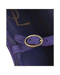 Saint Laurent   Purple Suede Palais 105 Dorsay Booties   Lyst