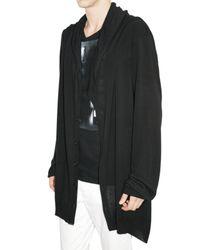 Ann Demeulemeester - Black Cashmere Blend Knit Cardigan Sweater for Men - Lyst