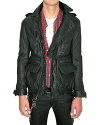 Balmain | Black Calfskin Parka Leather Jacket for Men | Lyst