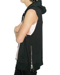 Balmain - Black Cotton Hooded Sleeveless Sweater for Men - Lyst