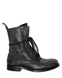Balmain | Black Side Zip Leather Boots for Men | Lyst