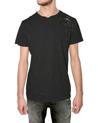 Balmain - Gray Pack Of Three Distressed Jersey T-shirts for Men - Lyst
