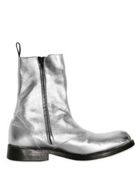 Balmain - Metallic Foil Chelsea Boot for Men - Lyst
