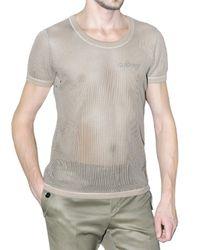 Burberry Prorsum | Natural Cotton Mesh T-shirt for Men | Lyst