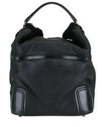 Burberry Prorsum | Black Callaway Large Pleated Leather Bag | Lyst