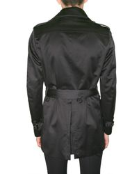 Burberry Prorsum - Black Double Breasted Trench Coat for Men - Lyst