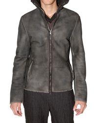 CoSTUME NATIONAL | Black Mestizo Shearling Jacket for Men | Lyst