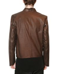 Damir Doma - Brown Fitted Kimono Style Leather Jacket for Men - Lyst