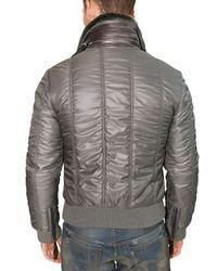 Dolce & Gabbana - Gray Rabbit Collar Nappa & Nylon Sport Jacket for Men - Lyst