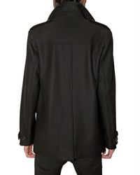 Dior Homme | Black Broadcloth Pea Coat for Men | Lyst